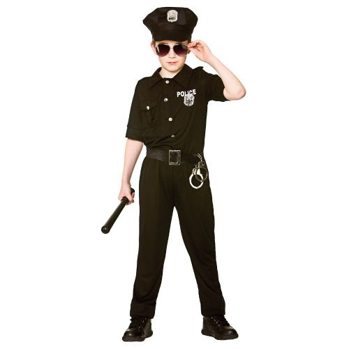 Childrens Boys New York Cop Costume for Law & Order Police Policeman Fancy Dress